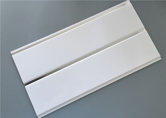 China Pure white high glossy middle groove ceiling pvc panels with silver supplier