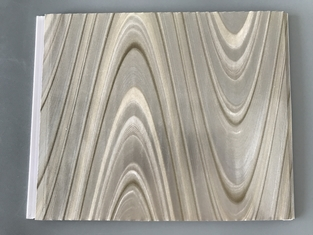 China Study Ceiling Laminated Plywood Wall Panels , Wood Grain Laminate Sheets Wave Design supplier