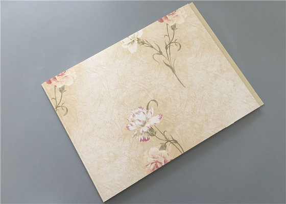 China High Strength PVC Wall Panels Gold Flower Design For Hotel / Restaurant / Home supplier