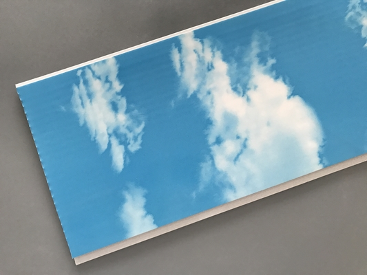 China Hot Stamping 250 × 7mm Ceiling PVC Panels  With Blue Sky And White Clouds supplier
