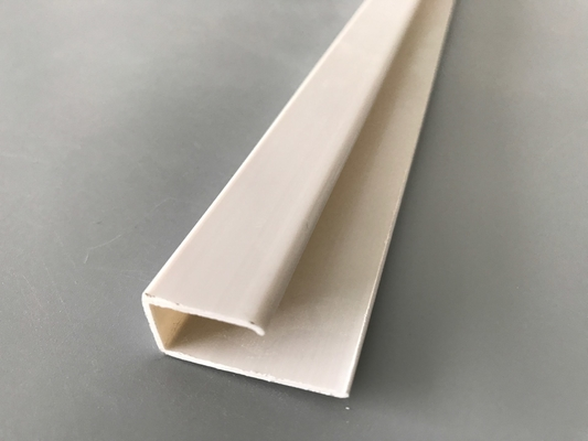 China U Style Flexible PVC Extrusion Profiles Pvc Jointer 5.95 Meter Length supplier