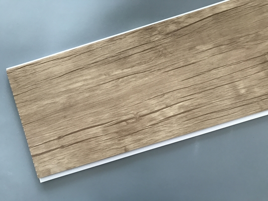 China Wood Color Plastic Laminate Wall Covering , Pvc Laminated Ceiling Board supplier