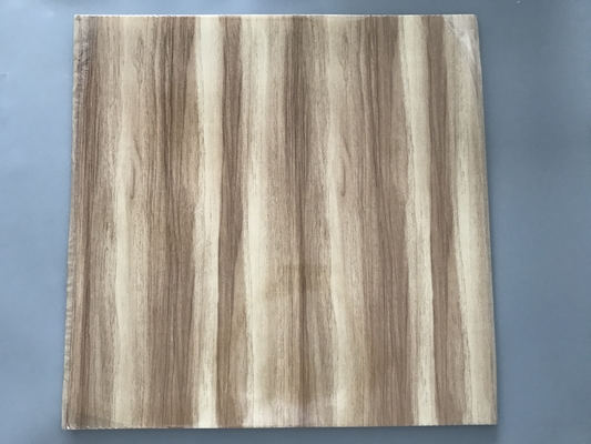 China Professional Wooden Flat PVC Ceiling Tiles With Stable Material 595mm / 603mm supplier