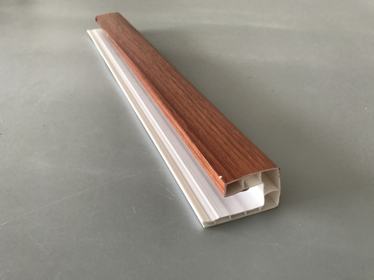 Eco Friendly Big U Pvc Profiles For Windows And Doors 5.95m Lamination Surface