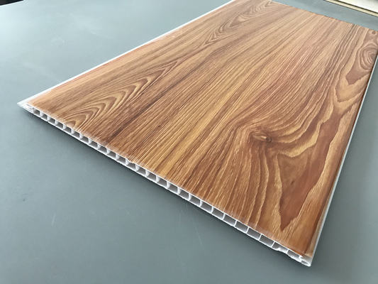 China Wood Transfer Printing 250mm Decorative PVC Panels Waterproof Ceiling supplier