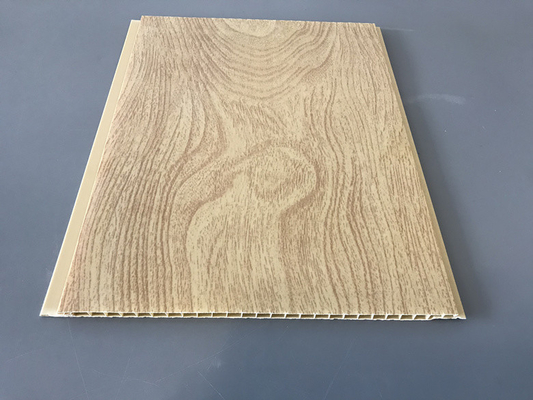 China 10 Inch × 7.5mm PVC Ceiling / Wall Panel Peanut Wood Pattern Smooth Slab supplier