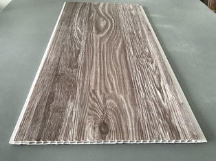 China Recyclable Brown PVC Wood Panels As Ceiling Covering 7.5mm Thickness supplier