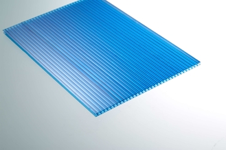 China Uv Protected Blue Polycarbonate Roofing Sheets For Agricultural Greenhouse supplier
