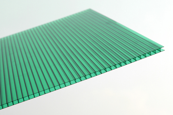 China Anti Fire Green Plastic Corrugated Roofing Sheets , Polycarbonate Wall Panels supplier