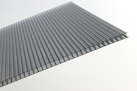 China Double Wall Clear Polycarbonate Roofing Sheets Panels For Greenhouse supplier