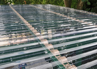 China Transparent Corrugated Polycarbonate Sheets For Roof Covering 0.8 - 1mm Thickness company