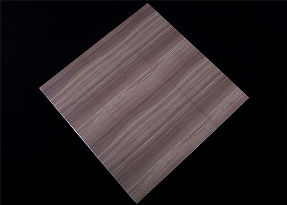 China 2.5kg Pvc False Ceiling Tiles , Lightweight Ceiling Tiles Dark Wood Design factory