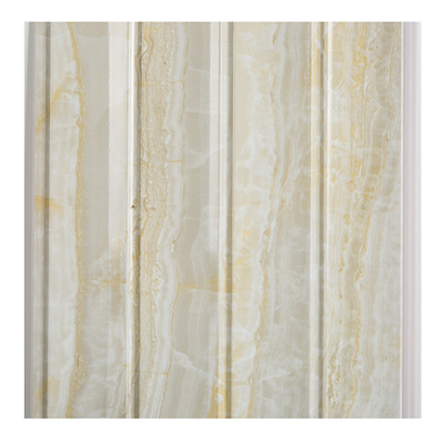 China Marble Design Waterproof Wood Paneling For Bathrooms Four Wave Three Groove factory