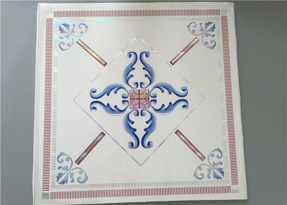 China High Intensity White PVC Ceiling Tiles For Bathrooms Various Colors / Patterns factory