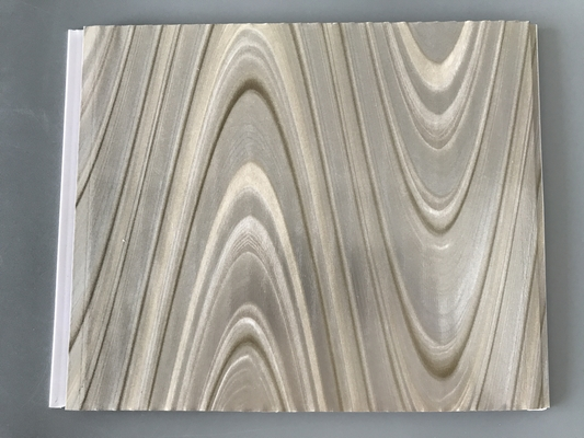 China Study Ceiling Laminated Plywood Wall Panels , Wood Grain Laminate Sheets Wave Design factory
