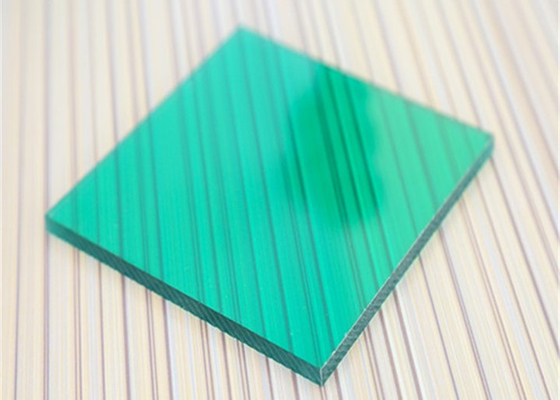 Unbreakable Polycarbonate Panel Green Color For Underground Garage Exit