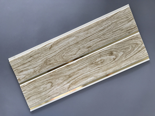 Customized Plastic Bathroom PVC Wood Panels , Bathroom Ceiling Cladding Panels