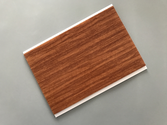 China Flat Ceiling Material PVC Wood Panels 200 × 6mm Size Easy Install / Cleaning factory