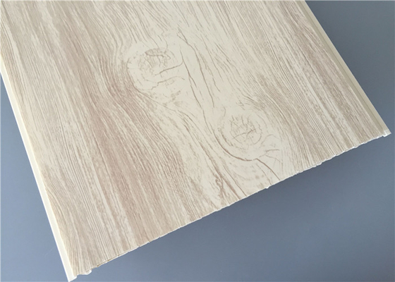 China 30cm High Glossy Pvc Wood Panels Fire Resistance For Hospital / Living Room factory