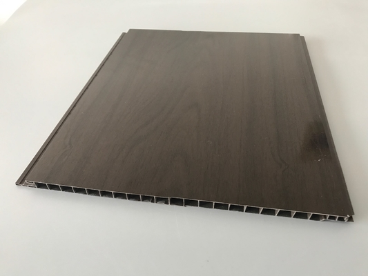 China High Glossy Printing Dark Wood Wall Paneling , Black Plastic Wall Panels For Ceiling / Wall factory