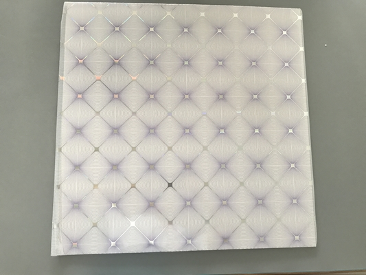 Easy Install / Clean PVC Ceiling Boards 7mm Thickness Shining Purple Design