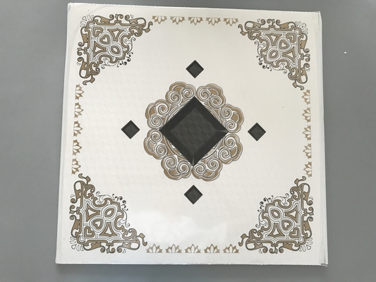 China Waterproof Drop Ceiling Tiles , Decorative Pvc Ceiling Tiles 595mm*595mm factory