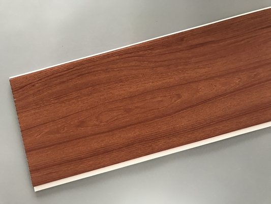 Eco Friendly PVC Wood Plastic Laminate Panels Flat Shape 250 × 8mm × 5.95m
