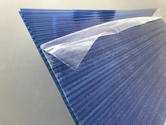 Blue Polycarbonate Roofing Sheets Lexan / Makrolon Raw Material 6mm Thickness