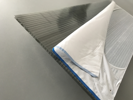 High Impact Strength Grey Polycarbonate Roofing Sheets 6mm * 2.1 * 11.8m Width