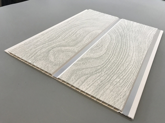 China High Strength Peanut Pattern Groove Shaped PVC Wood Panels  250 × 7mm factory