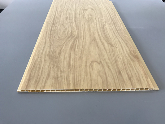 China 7.5mm Thick Corrosion Resistant PVC Wood Panels for Ceiling / Wall Cladding factory