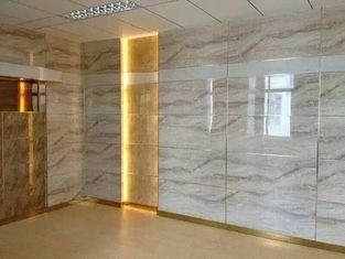 UV Coating Solid Pvc Waterproof Bathroom Wall Panels Exterior Marble Color