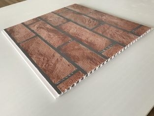 Brick Decorative Plastic Wall Panels Hot Stamping X Hollow Core Structure