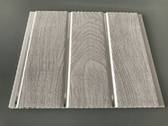 Double Middle Groove 25cm Decorative PVC Panels With Wooden Printing